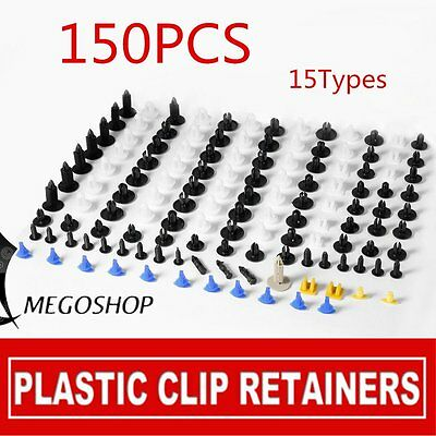 Hole Plastic Fender Car Rivets Panel Clip Screw Fastener for Toyota BMW AU