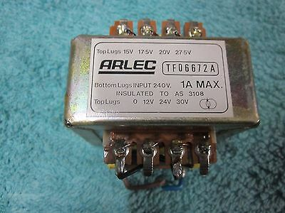 low voltage transformer, 240 volts primary ~ multi tap secondary 1 Amp