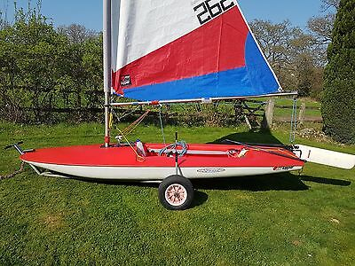 Topper sailing dinghy with road trailer