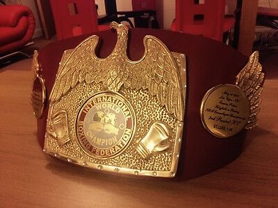 First Style IBF Championship boxing Belt-Holyfield Vs Parkey 1987.05.15