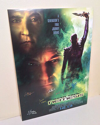 Star Trek First Contact Signed Theater Poster Next Generation 10 Cast Autograph