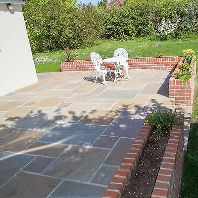 Buff Indian Sandstone Paving - Slabs For Patios And Landscaping