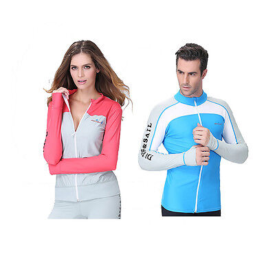 Long Sleeve Snorkeling Diving Skin Tops Surfing Suit Scuba Swimwear Rashguard