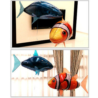 Remote Control Flying Shark Fish Air Swimmers Funny Inflatable Toy Blimp Balloon