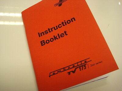 Lambretta TV 175 Series TWO Owners Manual  TV2 Instruction Booklet