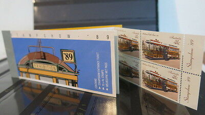 Australia 1989 Release Melbourne Stampshow Exhibition Trams 10 Stamp Book MNH