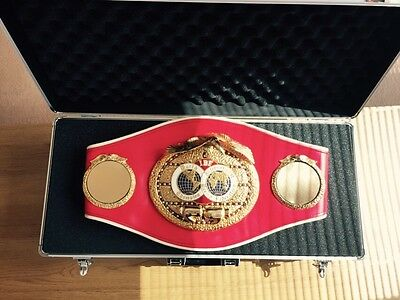 Official Old IBF Championship boxing belt-GENUINE-some wear signs
