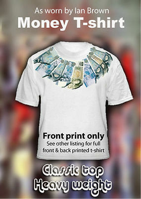 Ian Brown Money t-shirt ***REAL NOTES*** The Roses - (Tour- Stone -Tickets)