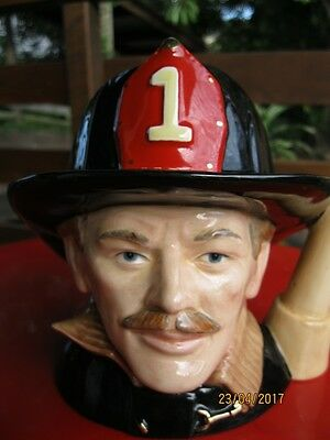 "Large Royal Doulton Toby Jug  ""the Fireman"" With Original Box"