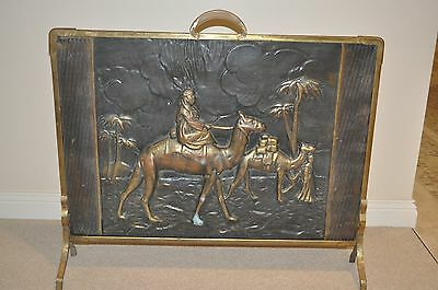 Vintage Metal Fire Place Screen Guard