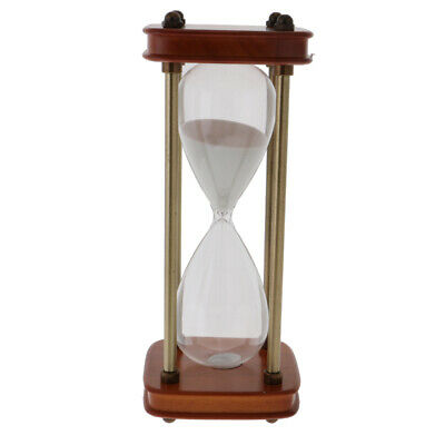 Retro 15/60 Minutes Wooden Hourglass Sand Timer Office Coffee Table Shelf Decor
