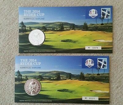 Gb Ryder Cup 2014 Medal/coin Stamps First Day Cover For All Golf Enthusiasts