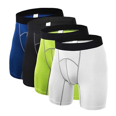 AU Mens Boys Body Armour Compression Base Layer Thermal Under Shorts Sport Skins