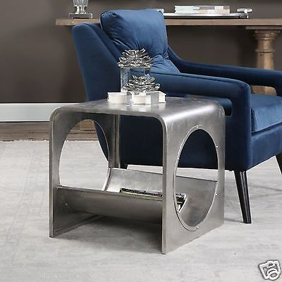 Shop Sting Modern Avatar Industrial Silver End Table