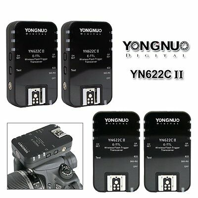 4PCS Yongnuo YN-622C II Wireless E-TTL Flash Trigger for Canon EOS Camera