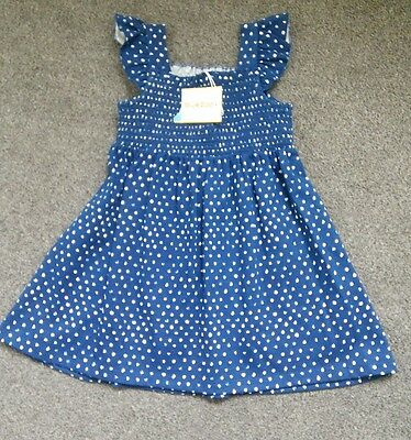 Bluezoo Baby Girls Navy Blue Dress 12-18 Months Bnwt