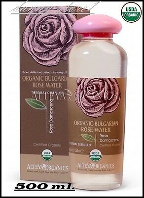 Pure Organic Rose Otto (Attar of Roses)USDA Certified, Floral Water 500 ml.
