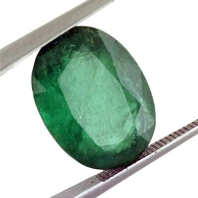 5 Ct Certified Emerald In Excellent loose Ovel Shape