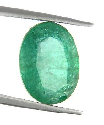 4.5 Ct Certified Emerald In Excellent loose Ovel Shape