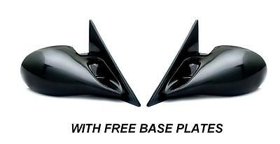 Bmw E46 3 Series 2 Door Coupe Black M3 Electric Door Wing Mirrors & Base Plates