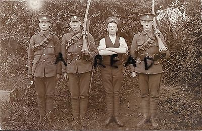 Soldier Group including Bugler Essex Regiment marching order rifles