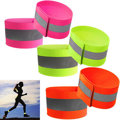 1*Outdoor Sports Reflective Arm Band Belt Strap For Night Running Cycling Safety