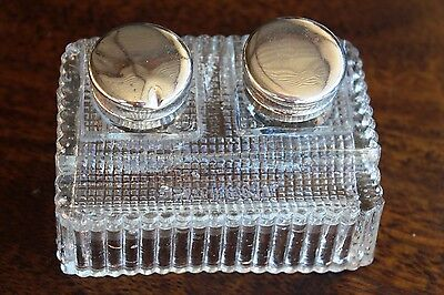 Old Ink Well Silver Plated Caps