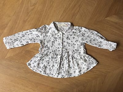 Zara Baby 3-6M Months Blouse Collared Patterned