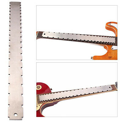 Two Scale Length Notched Straight Edge Fingerboard Ruler Guitar Luthier Tool