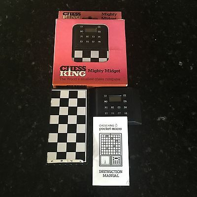 """Chess King Mighty Midget Computer Chess Game """"World's Smallest Chess Computer"""""""