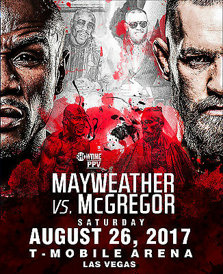 Floyd Mayweather vs. Conor McGregor Fight Poster 24 x 30