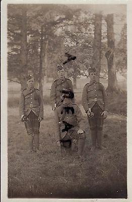 Soldier group Buglers 6th Battalion Highland Light Infantry HLI in Trews