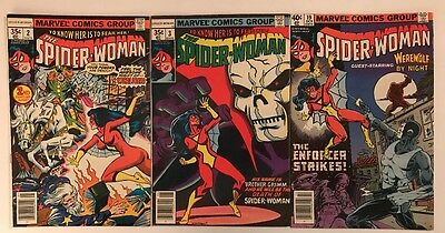 Lot Of Old Marvel Comics Spider-Woman 2, 3 And 19