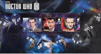 2013 Doctor Who RM Presentation Pack no 482 Complete 11 stamps and Mini Sheet