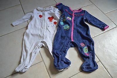 lot de 2 pyjamas en velours orchestra 12 mois / 1 an