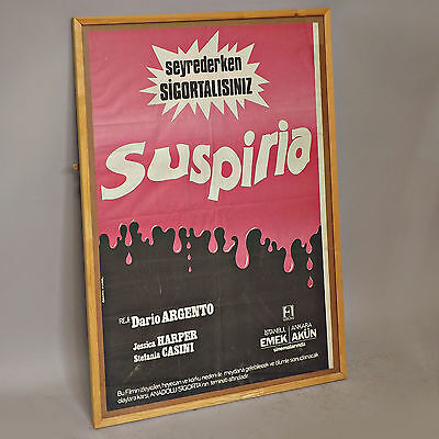Framed Suspiria Poster & DVD - Vintage Original Cult Argento Horror Film Art