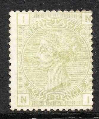 GB QV SG153 4d Sage Green Plate 16 Mint Hinged Cat £1400