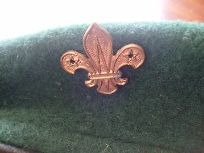 Vintage 1950's / 60's Boy Scout Beret with Cap Badge Scouts Scouting.
