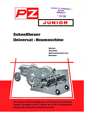 "landwirt. Prospekt, PZ, Heumaschine ""Junior"", 100% original"