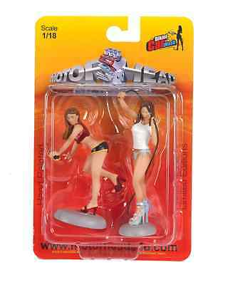 Bikini Car Wash Girls Rayna & Diane  #352 1/18 scale garage/diorama/shop