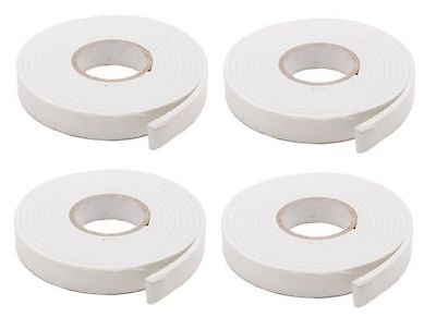4 X Roll Heavy Duty Strong Double Sided Sticky Tape Foam Adhesive Craft New