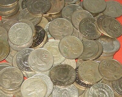 Cyprus - Bulk lot of 90x 20 Cent Coins Pre-Euro Type