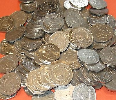 Cyprus - Bulk lot of 50x 50 Cent Coins Pre-Euro Type