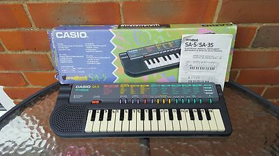 Casio Vintage Sa-5 Songbank Keyboard - Boxed & Instructions - Tested & Working