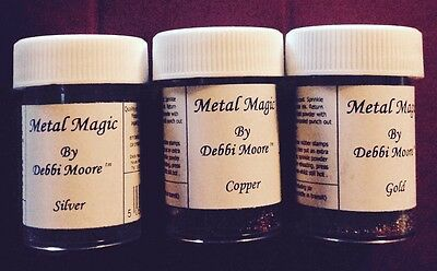 Metal Magic ~ Gold, Silver & Copper ~ Embossing Powder ~ Debbie Moore