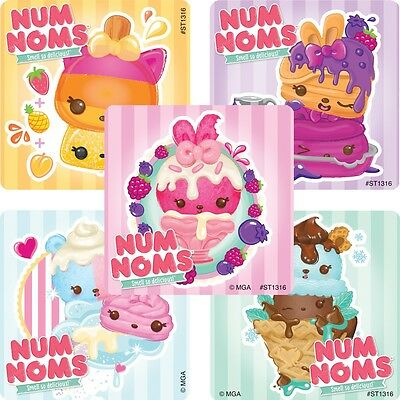 Num Noms Stickers x 5 - Birthday Party Stickers - Scented Stickers - Style 1