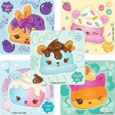 Num Noms Stickers x 5 - Birthday Party Stickers - Scented Stickers - Style 2