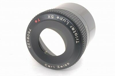 Exc Carl Zeiss Triotar Lupe Loupe 5x T* *7509420