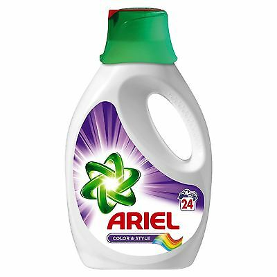 Ariel Colour Bio Actilift Washing Laundry Detergent Cleaning Liquid - 24 Washes