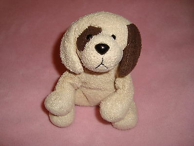 Russ Luv Pets Small Plush cream colored dog named Buster 5""